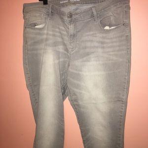Old navy skinny light grey wash jeans